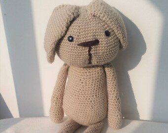 Stuffed toy rabbit wool hand made crochet