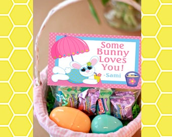 Some Bunny Loves You Easter Goodie Bag topper- Instant Download