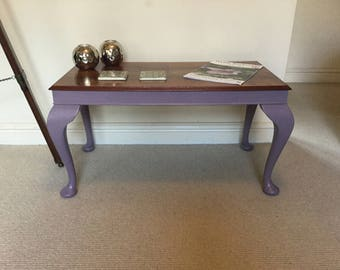Upcycled Coffee Table with Queen Anne Legs