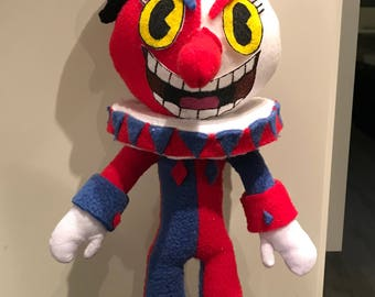 Beppi The Clown plushie (Cuphead) *with squeaker* Fanmade