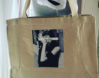 Tote bag, 'I'm Fine'