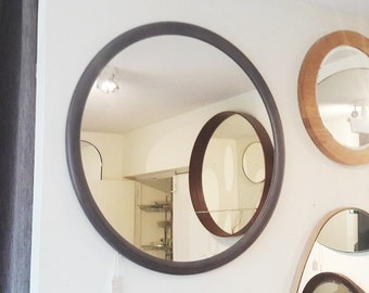 Round Mirror With Wood Frame