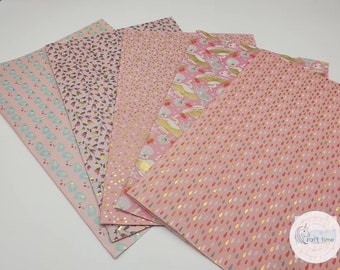 PINK Half Sheet Collection Decopatch Paper