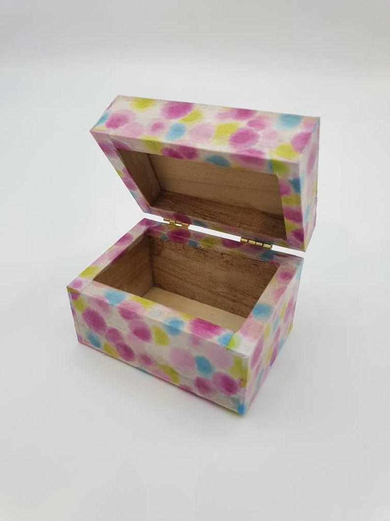 Trinket Box Decoupage Box Small Keepsake Box Decopatch Box