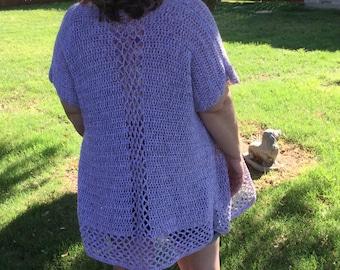 Summer Trellis Cardi Crochet Pattern: Crochet PDF Pattern