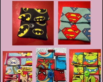 SUPER HEROS 4x4 Cloth Cases