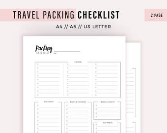 packing checklist etsy