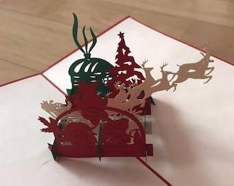 Pop Up 3d card reindeer
