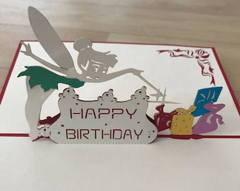 Pop Up 3d card Tinkerbell
