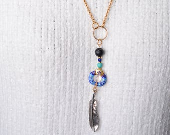 Chinese Cloisonné Gold Necklace