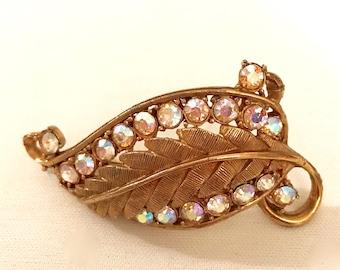 40's Vintage Leaf Brooch            LV0154