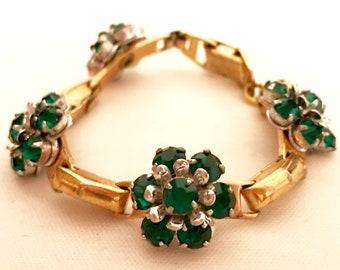 40's Floral Chain Bracelet          LV0155