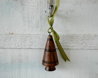 Tree Ornament Tree Wood Ornament Christmas Ornament Lathe Etsy