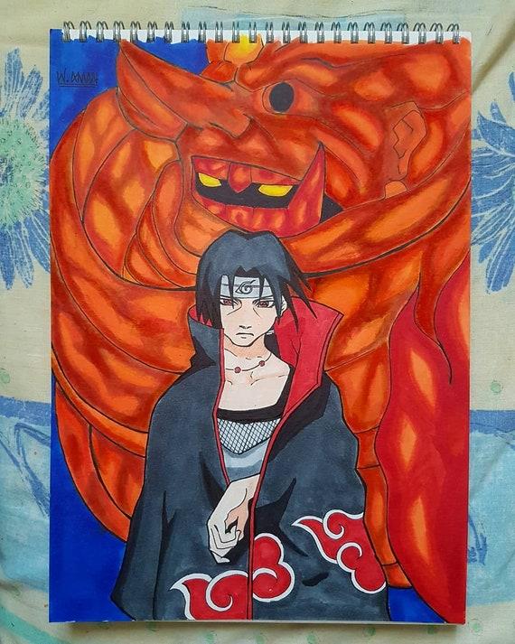 itachi uchiha susanoo naruto print poster etsy