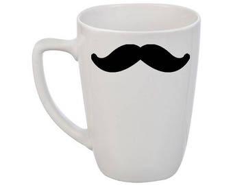 Mustache coffee cup / Funny coffee mug / Gift coffee mug / Gift for him / Gentleman coffee mug / Valentine's Day Gift mug