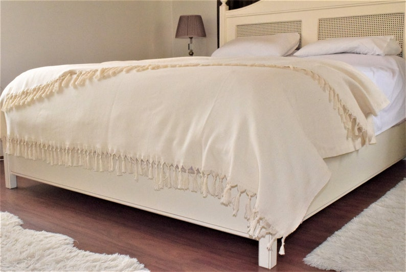 Herringbone Blanket, 100% Cotton Coverlet, Cotton Duvet, Duvet Cover,  Bedspread, Turkish Blanket, Blanket Throw, Bed Blanket Naturel 79