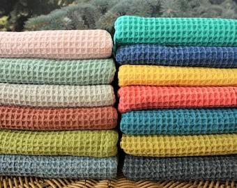 "All Organic Cotton Turkish Peshtemal for Bath Spa Sauna Beach Towel 100% Cotton Extra HIGH Quality towel Peshtemal WAFFLE TOWELS 35""x67"""