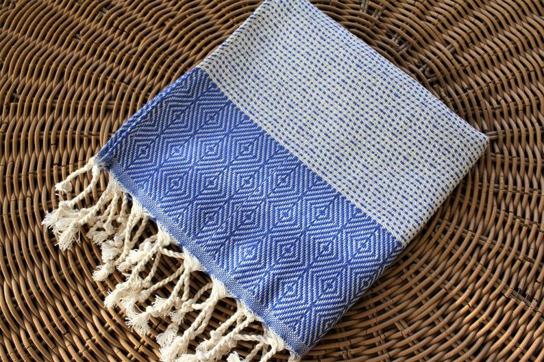 Turkish Towel PESHKIR Towel Tea Towel Striped Diamond Navy 20x39 Natural Cotton Towel Navy Hand Towel Small Peshtemal Head Towel