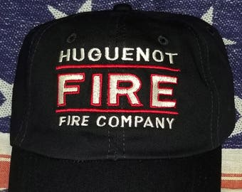 Fire Company Ball Cap Custom Embroidered for YOUR Department.  Caps are personalized with your fire department name and location. Great gift