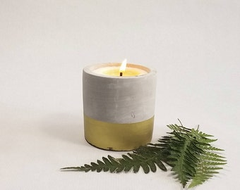 Soy Candle - cement container