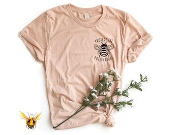 b875fb583 Bee Shirt, Save The Bees, Save The Bees Tshirt, Honey Bee, Vegan Shirt,  Vegan Clothing, Positive Shirt, Vegan T-shirt, Kindness Shirt