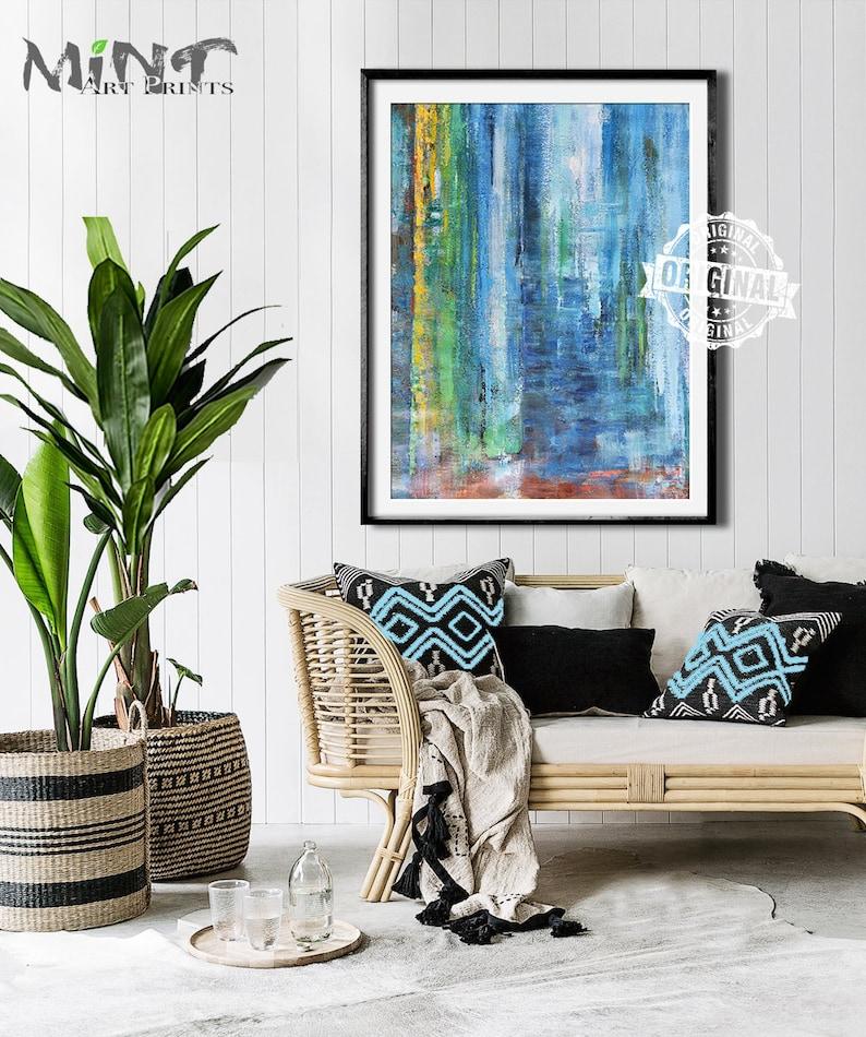 Instant Download Art Abstract Art Landscape Painting Living Room Wall Art Print Mint Fine Art No.M93