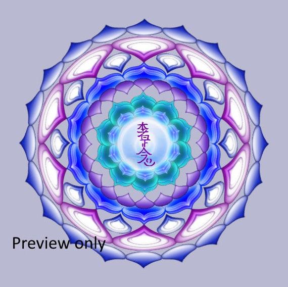 Reiki Symbol Mandala Printable Hon Sha Ze Sho Nen Etsy
