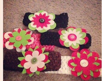 Felt Flower Baby Headbands