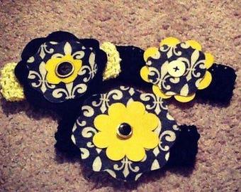 Saints Baby Headbands
