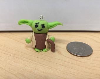 Yoda - Polymer Clay Charm - Kawaii