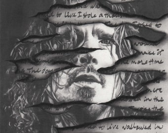 """Original Pencil Drawing of Chris Cornell - """"The Day I Tried to Live"""""""