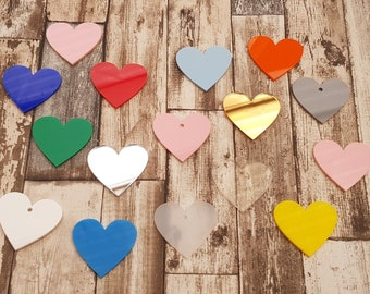 Heart craft blanks all sorts of sizes