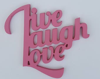 Live-Laugh-Love Wooden Wall Decor Sign (7, 12 & 18 inches)