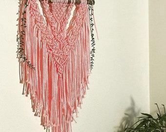 Pink Layered Macrame Wall Hanging