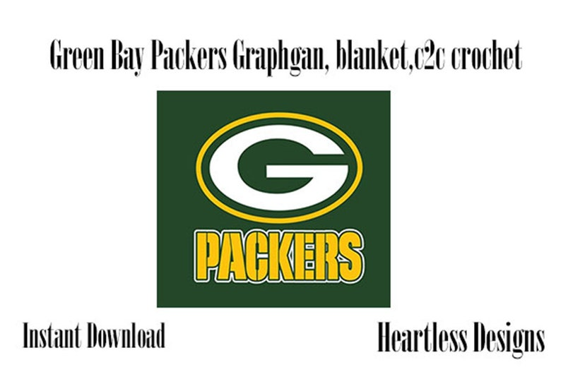 3ac61efd INSTANT DOWNLOAD | Green Bay Packers | C2C Pattern, graphgan, Cross stitch