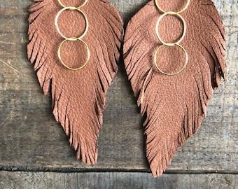 Cheyenne Feather Earrings