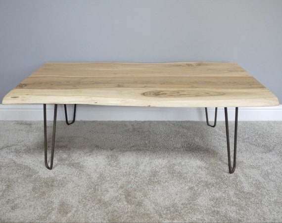 Astonishing Living Edge Acacia Coffee Table Centre Table Iron Legs Designer Table Minimal Furniture Cafe Table Theyellowbook Wood Chair Design Ideas Theyellowbookinfo