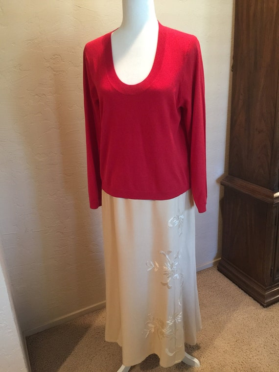 Liz Claiborne silk skirt & top