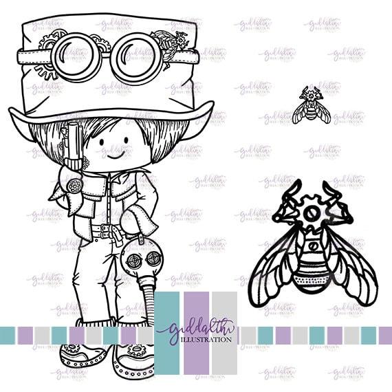 Pollomat 2000 Poster Steampunk Bee A2
