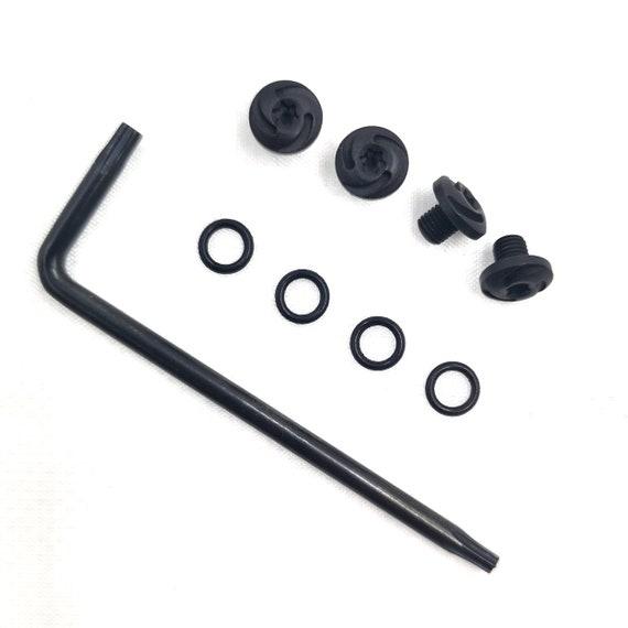 Guuun Beretta 92s Grips Screws 4 Stainless Steel Screws Black 4 O Rings