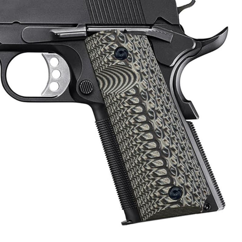Guuun Brand G10 Grips, 1911 Grips Python Snake Texture Very Aggressive Full  Size Custom Gun Grip fit Tactical IPSC Colt Kimber Sig Sauer S&W