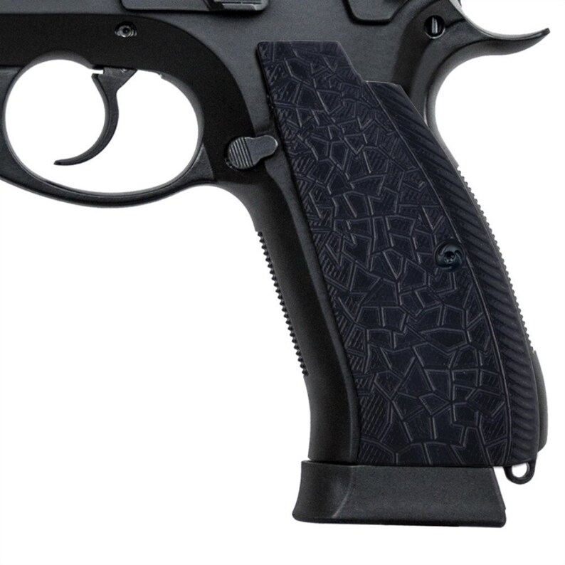 Guuun CZ 75 Grips, Full Size G10 Tactics CZ sp01 Grip Aggressive Thin Rock  Texture, Free Screws Included