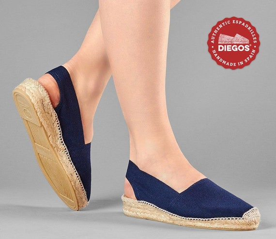 Diegos® Classic navy blue low wedge