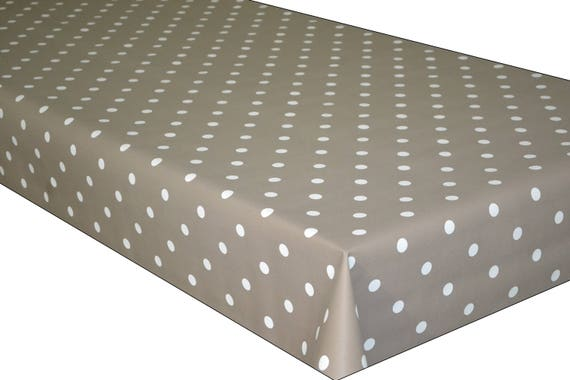 Gold Polka Dot Spots PVC Vinyl Wipe Clean Tablecloth Oilcloth ALL SIZES