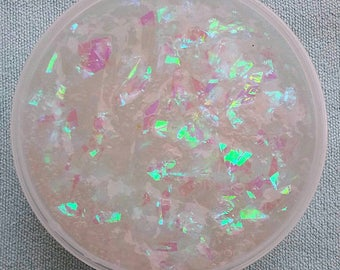 Unicorn Flakes / Clear Glitter Holographic Slime