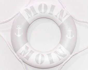 """Small Life Ring Grey """"Moin Moin"""" - 100% Handmade & ORIGINAL"""