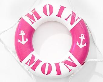 "Small Life Ring Pink ""Moin Moin""-100% Handmade & ORIGINAL"