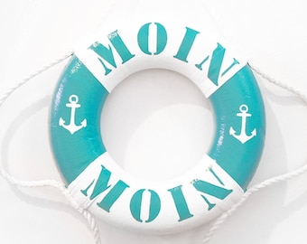 "Small Life Ring Türkies ""Moin Moin"" - 100% Handmade & ORIGINAL"