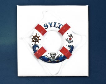 Sylt Life Ring, Canvas Print