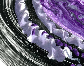 Purple ribbon. Abstract. Reproduction of original art signed by me
